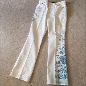 Ralph Lauren white pant with print